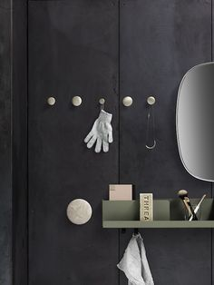 FOLDED: A Wall Storage System to Organize & Display Everyday Items Muuto folded shelves Coat Hanger, Wall Hanger, Wall Hooks, Wall Shelves, Coat Hooks, Shelf, Wall Storage Systems, Nature Decor, Vases