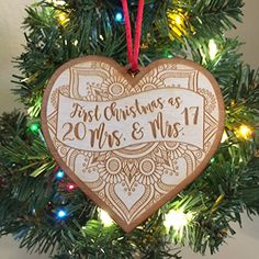 1st Christmas as Mrs  Mrs 2017  Same Sex *** Continue with the details at the image link. #WeddingGift