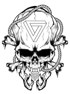 Skull sketches • The meaning of a tattoo with a skull and a skeleton