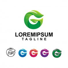 Modern Leaf With Letter G Logo Design G Logo Design, Logo Design Template, Letter G, Leaf Logo, Templates, Modern, Abstract, Summary, Stencils