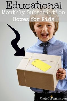 Great list of fun educational subscription boxes for kids. Children love receiving mail, so why not have them learn something too!