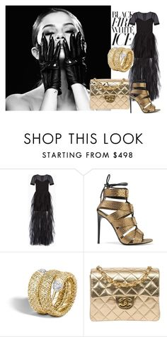 """""""black fire white ice"""" by sofiacalo ❤ liked on Polyvore featuring BCBGMAXAZRIA, Tom Ford and Chanel"""