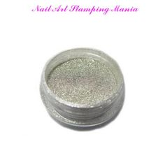 Nail Art Stamping Mania: Chrome Mirror Pigments - Chameleon Powder From Nail MAD AliExpress - Tutorial