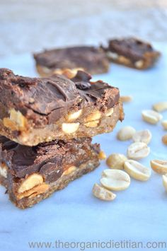 Healthy Homemade Snickers Bars | The Organic Dietitian