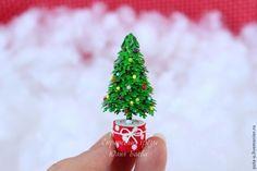"""Миниатюра """"Новогодняя ёлочка"""" своими руками - Ярмарка Мастеров - ручная работа, handmade"""