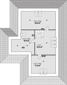 Projekt domu Miriam V 126,70 m² - koszt budowy - EXTRADOM Modern Bungalow Exterior, Modern Bungalow House, Bungalow House Plans, Dream House Plans, My Dream Home, Residential Building Plan, House Construction Plan, Village House Design, Beautiful House Plans
