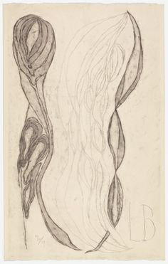 The Unfolding, 2007. Etching on paper | Louise Bourgeois