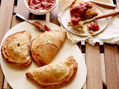 Three Cheese and Artichoke Calzones Recipe : Giada De Laurentiis : Food Network - FoodNetwork.com