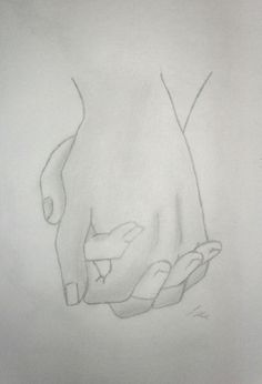 Holding Hands Drawing - Lallie © 2015 - Jul 4, 2012