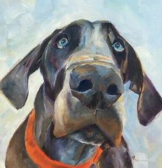 54 Oil Painting With Dog Drawing Ideas - Art Animal Paintings, Animal Drawings, Art Drawings, Animal Gato, Dog Portraits, Dog Art, I Love Dogs, Painting & Drawing, Illustration Art