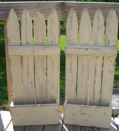 picket fence panels | What do you get when you recycle old fence panels? Faux flower ...
