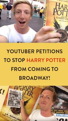 You need to see this: http://glommable.com/youtuber-harry-potter-cursed-child-broadway/