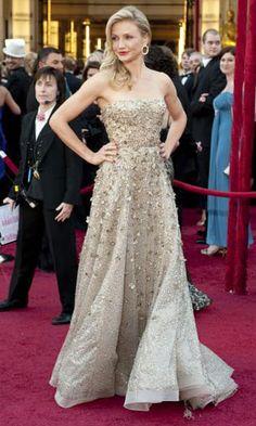 Cameron Diaz in Oscar De La Renta at the 2010 Oscars.