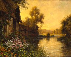 Louis Aston Knight A_Summer_Evening_Beaumont_Oil_on_Canvas Louis Aston Knight, Amazing Paintings, Nature Paintings, Amazing Art, Landscape Paintings, Oil Paintings, Pintura Exterior, Carrasco, Summer Landscape