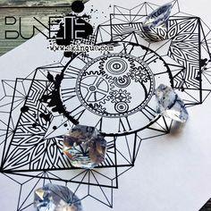 clock geometric mandala trash polka tattoo idea inspiration bunette skinque