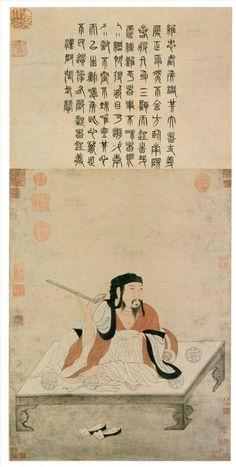 元代 - 趙孟頫 - 諸葛亮像 Zhao Mengfu, 1254 -1322, Yuan Dynasty