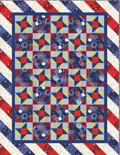 American Valor - Spinning Stars. Download PDF here http://www.redroosterfabrics.com/stuff/contentmgr/files/0/4504f6e1c3ce7ac86d9502f3789572fd/pattern/americanvalor.pdf