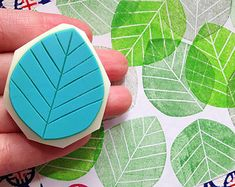 leaf silhouette stamp. hand carved leaf rubber stamp. diy wedding. gift wrapping/craft projects. large.