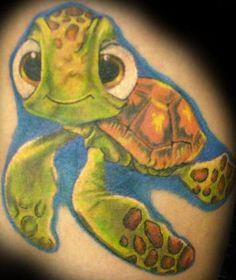 Squirt from Finding Nemo #DisneyTattoo ahaha I would look at it all the time & just giggle he's so cute!