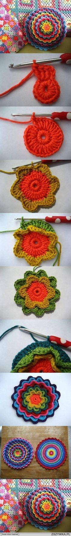 diy, crochet, flower, pattern, tutorial