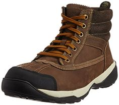 Get a trendy and smart look by wearing these brown coloured boots for men from Woodland. The nubuck leather upper and lining make these boots for men quite long-lasting. The TPR (thermoplastic rubber) sole offers great comfort.