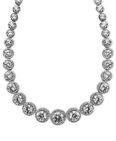 Arabella Sterling Silver Necklace, Swarovski Zirconia Necklace (55-1/3 ct. t.w.).