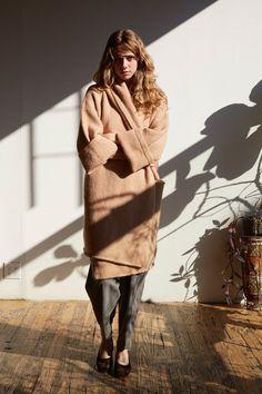 Lauren Manoogian Tan Capote Coat | Beautiful Dreamers