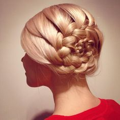 french flower braid updo
