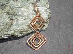 Anhänger Mäander - Bild vergrößern Handmade Wire Jewelry, Shops, Personalized Items, Handarbeit, Jewerly, Photo Illustration, Tents, Retail