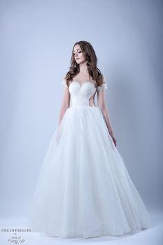 Tulle Ball Gown Wedding Dress (#Kennadie) - Dream Dresses by P.M.N  - 1