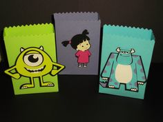 Monsters Inc birthday party favor bags, candy bags, dessert buffet, Monsters University on Etsy, $30.00