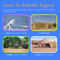 Casas del mundo Continents, English Language, Around The Worlds, Culture, Teaching, Education, Plaza, Houses, Apple