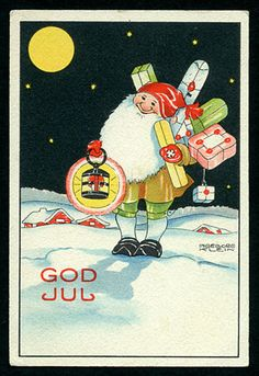 Julkort av Ingeborg Klein. Från 1930-talet.