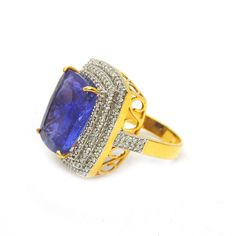 A personal favorite from my Etsy shop https://www.etsy.com/listing/561432753/17-carats-natural-tanzanite-ring-14k