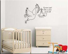 adesivo da parete bebè personalizato