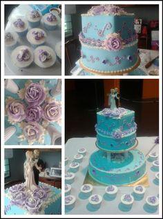 3-tier Wedding Cake & Cuppies