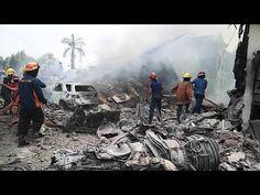 Crash d'un Avion Militaire au centre de Medan auNord de Sumatra en Indonésie tuant plusieurs douzaines de personnes