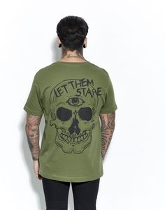 Let Them Stare T-Shirt Forest Green