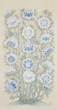 Korean Painting, Chinese Painting, Korean Art, Asian Art, Chinese Ornament, Contemporary Decorative Art, Wax Art, Batik Pattern, Naive Art