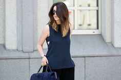 Gonna pantalone outfit - clean lines