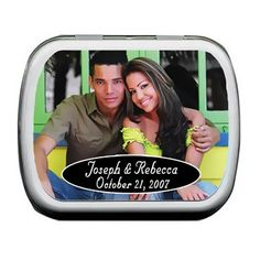 Personalized Photo Wedding Mint Tin Favors by Beau-coup