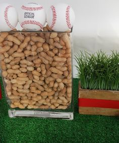 Cute decoration for a baseball themed party!