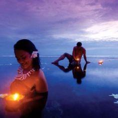Candlelit waters! Samoa <3