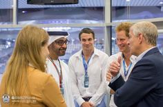 hrhprincessbeatriceblog:  Princess Beatrice (back to camera) chats with her cousin Prince Harry at the Formula 1 Etihad Airways Abu Dhabi Grand Prix 2014, November 23, 2014