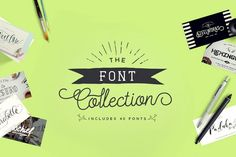The Font Collection from FontBundles.net. 40 PUA encoded Fonts fully accessible in Cricut and Silhouette, SCAL and others.