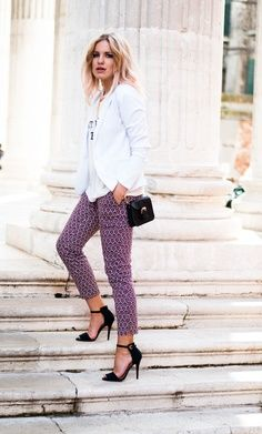 Black High heel and Purple Pants for ladies.Click the picture to see more stuff