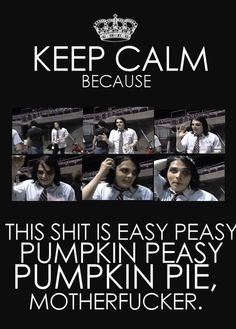 My new FAVORITE MCR thing to say. <3
