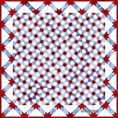 A Teaser for Inklingo Hunter's Star Quilts Hunters Star Quilt, Free Shapes, Patriotic Quilts, Quilt Of Valor, White Quilts, Star Blocks, Star Quilts, Star Designs, Fabric Art