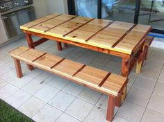 Cypress And Red Cedar Dining Table