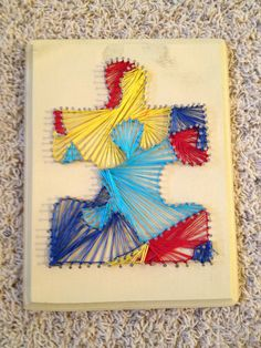 Custom Nail and String Art. $55.00, via Etsy.